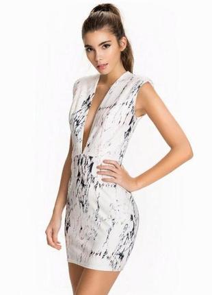 Rare london платье принт мрамор оригинальное
