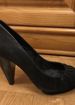 Черные туфли каблук 10 см размер 39