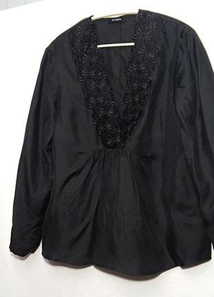 Max&co, блуза черная шелк