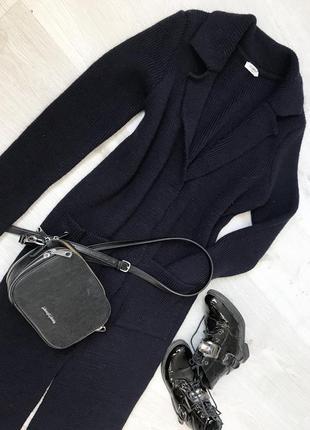 Стильный тёплый кардиган/ пальто с накладными карманами