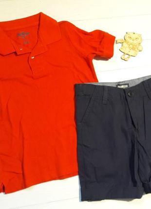 Летний комплект oshkosh  carter's для мальчиков 5 лет (поло+шорты )