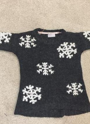 Новогодний свитер, свитер со снежинками