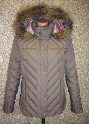 "Пуховая теплая куртка с капюшоном ""marks & spencer"""