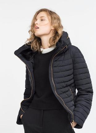Короткая зимняя куртка zara на 40р м распродажа