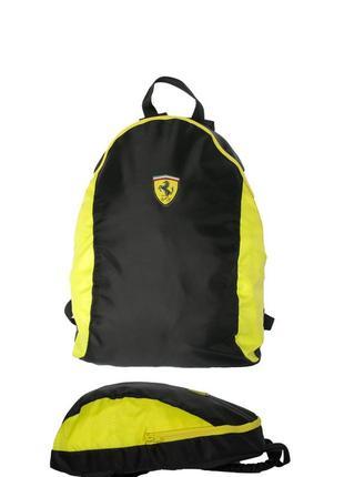 Акция! лёгкий рюкзак, водостойкая ткань,чёрный с жёлтым, отлично сидит, красиво выглядит