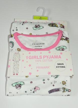 Пижамка котоновая, primark. размеры 4, 5, 7, 8 лет