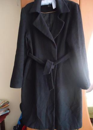 Актуальное пальто с поясом. шерсть/кашемир