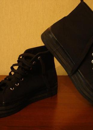4f67d532f90b Кеды на платформе divided by h m размер 38 черные, ботинки осенние ...