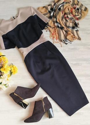 Офисное платье в стиле колорблок в145310 ax paris размер uk10 (s/m)