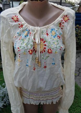 Шикарная вышиванка блуза италия