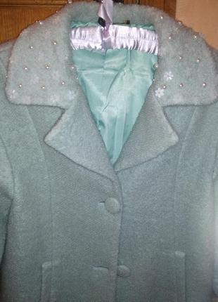 Пальто шерстяное супермодное хит - сезона