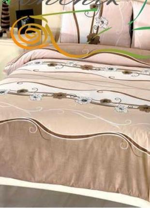 Двуспальные комплекты постельного белья бязь голд люкс- волна