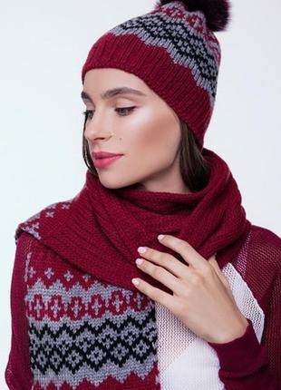 Комплект шапочка шарф