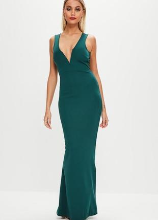 Вечернее элегантное платье в пол с красивым вырезом missguided ms532