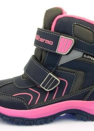 Новинка 2018! детская зимняя обувь термо-ботинки для девочки, b&g, размеры 32-37
