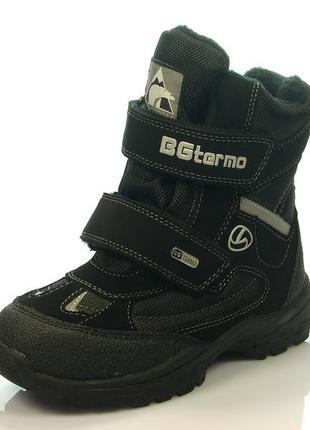 Новинка 2018! детская зимняя обувь термо-ботинки для мальчика, b&g, размеры 30-35