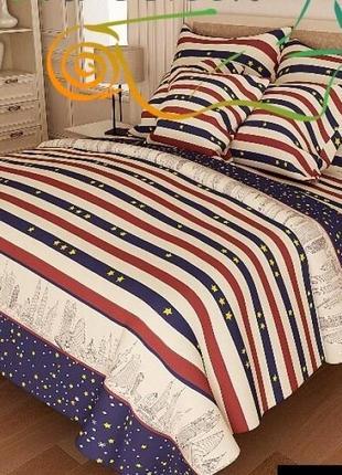Комплекты постельного белья из бязи gold lux - звёзды