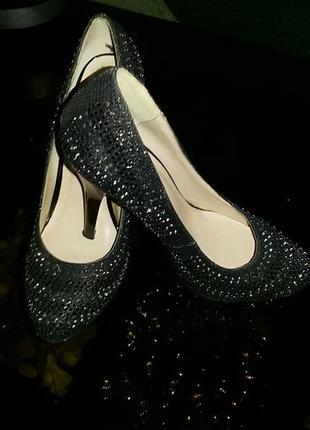 Туфли черные со стразами
