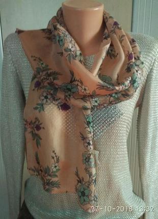 Нежный шарфик, натуральный шелк
