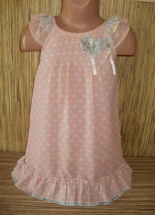Платье шифоновое на 3-4 годика