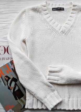 Белый свитер джемпер кофта реглан свитшот zara