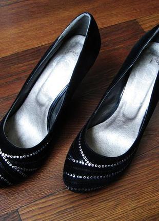 Классические бархатные туфельки тм jose amorales, не на узкую ножку, р. 38