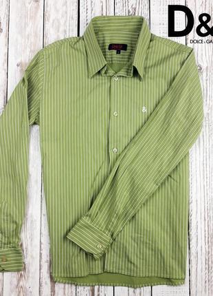Мужская стрейчевая рубашка рубашка  d&g