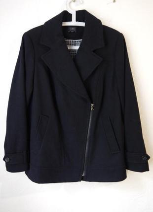 1+1=3 суперское пальто с косой молнией