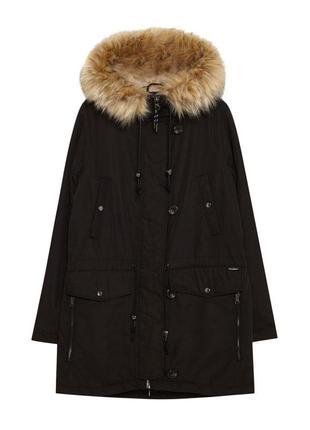 Черная куртка парка