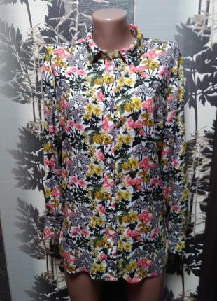 Блузка цветочный принт warehouse в идеальном состоянии м