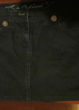 Чёрная джинсовая юбка next