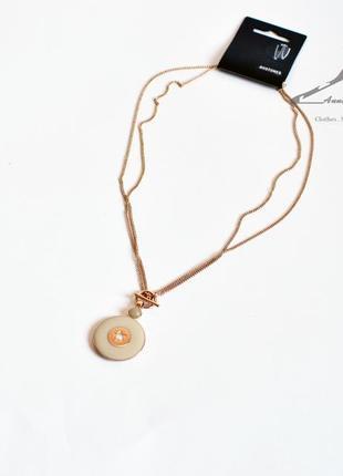 Элегантное позолоченное ожерелье pilgrim
