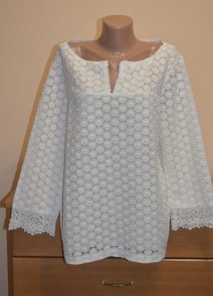 Блуза tory burch кремового цвета