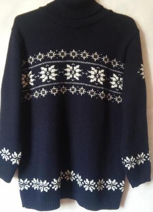 Шерстяной свитер 50% шерсть мериноса