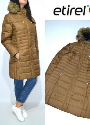Пуховик лыжная куртка пальто пуховое пух etirel.
