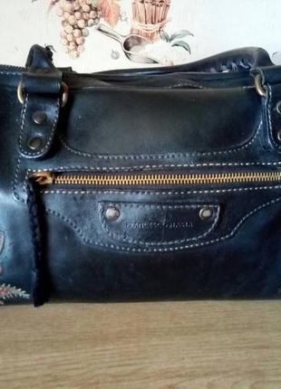 Брендовая кожаная сумка francesco biasia (италия)