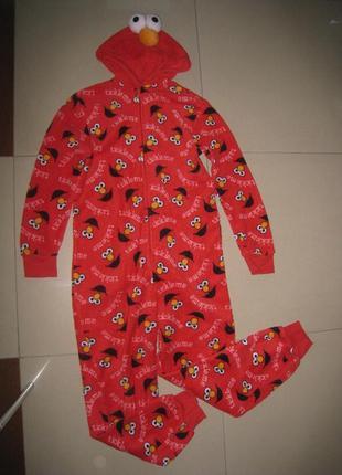 Махровый взрослый кигуруми,человечк-пижама,карнавальный костюм xs