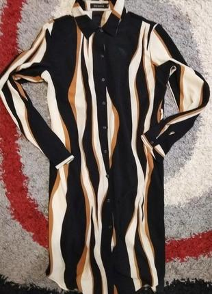 Стильная рубашка платье 12-14