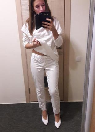 Идеальные белоснежные белые брюки2