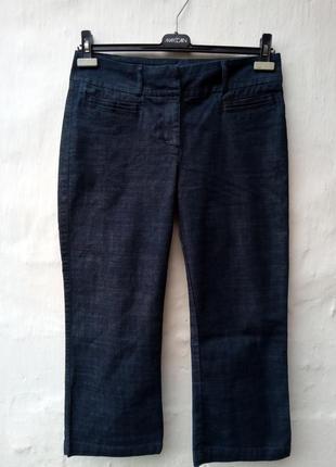Новые синие джинсовые капри момы,высокая посадка,брюки,джинсы,кюлоты.