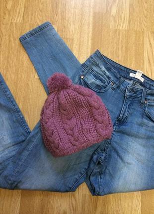 Фирменная теплая шапка accessorize,шапочка с бумбоном+подарок
