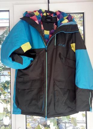 Лыжная, мембранная куртка cross, утеплена синтепоном.