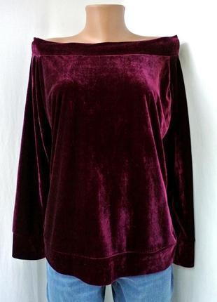 Велюровый блузон, свитер, свитшот от boohoo