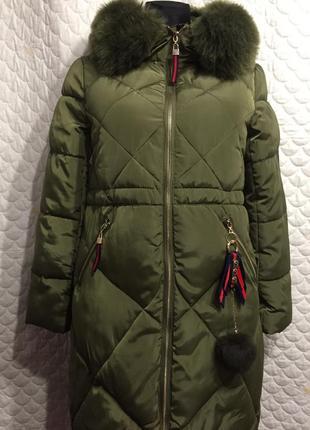 Стильная куртка-пальто, парка