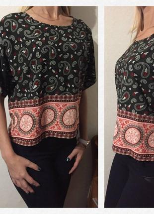 Классная)) стильная блуза/футболка этно