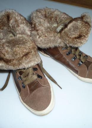 Next теплые высокие кеды, ботинки , р 39, стелька 25.5 см на узкую ножку