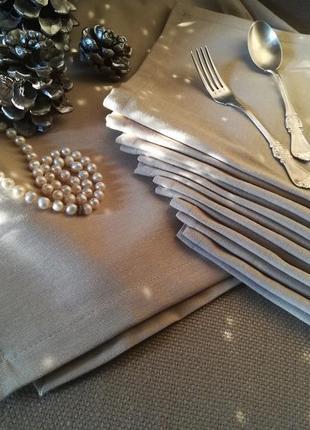 Набор для сервировки стола. скатерть-дорожка и 6 салфеток. водонепроницаемая ткань