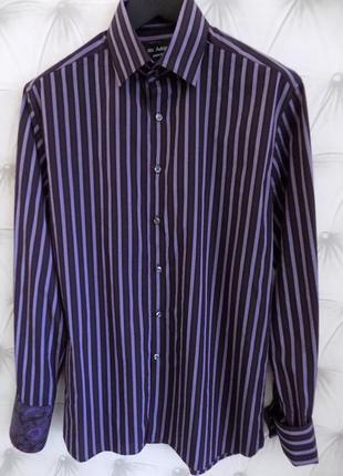 Современая стильная мужская рубашка с запонками5 фото