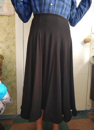 Черная танцевальная юбка