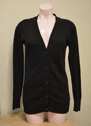 Теплая черная кофта 50% шерсть